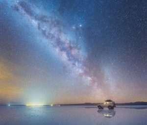 Stargazing at Uyuni Sal Flats