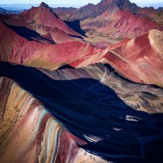 6 Rainbow Mountain drone shot
